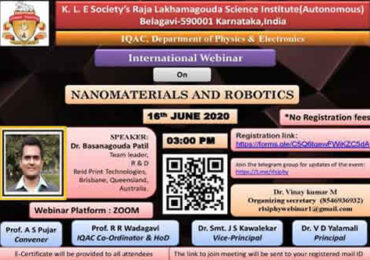 "International Webinar on ""Nanomaterials and Robotics"""