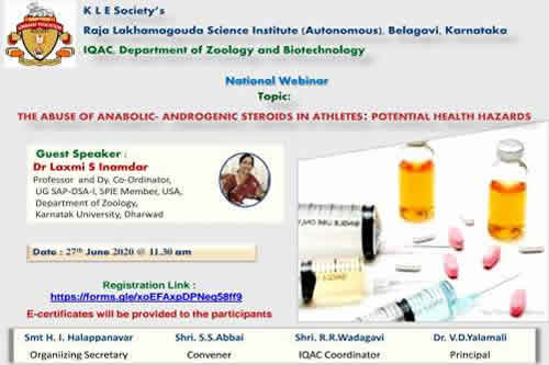 "National Webinar on ""THE ABUSE OF ANABOLIC -ANDROGENIC STEROIDS IN ATHLETES:POTENTIAL HEALTH HAZARDS"""